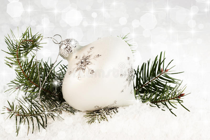 Ornamento do Natal do floco de neve fotografia de stock royalty free