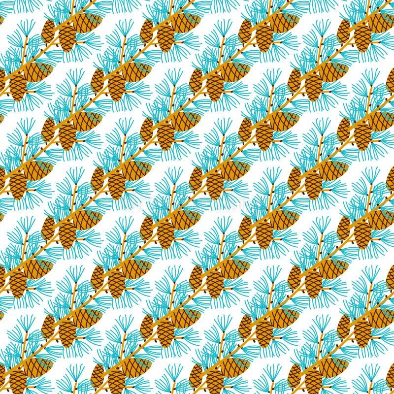 Download Ornamento Do Natal Dos Galhos E Dos Cones Do Pinho Ilustração do Vetor - Ilustração de semente, verão: 107529598