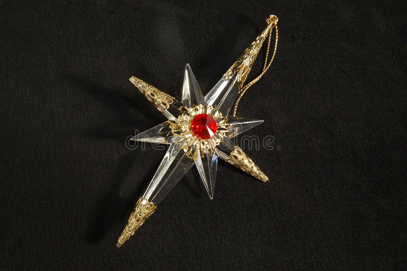 Ornamento do Natal - estrela norte, dentro completamente imagens de stock