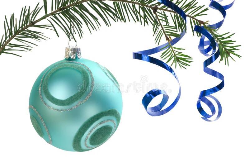 Ornamento do Natal no branco foto de stock royalty free