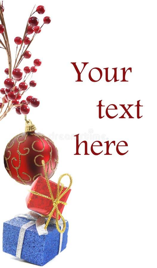 Ornamento do Natal ou de ano novo no branco imagem de stock royalty free
