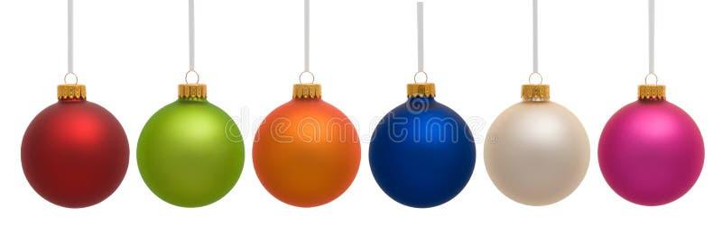 Ornamento do Natal que penduram no branco imagens de stock