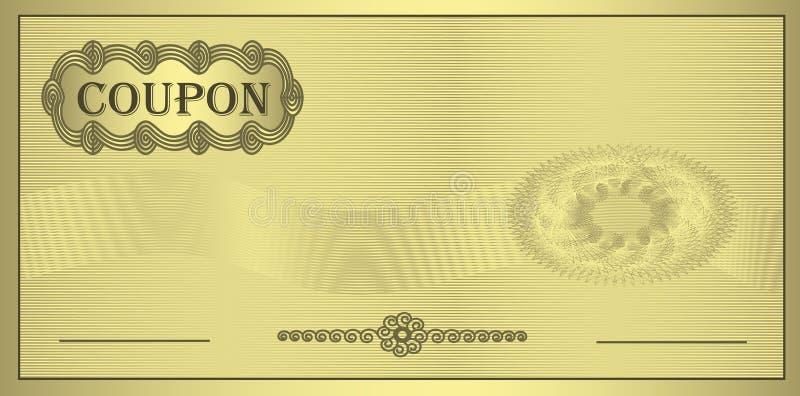 Ornamento do ouro do vale ilustração royalty free