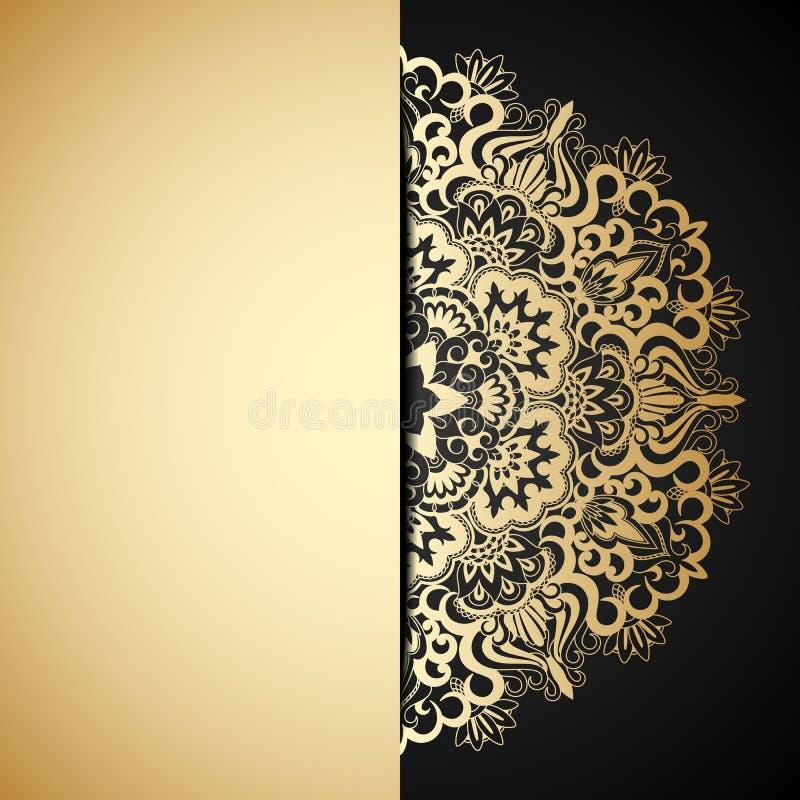 Ornamento do ouro do vetor. ilustração do vetor