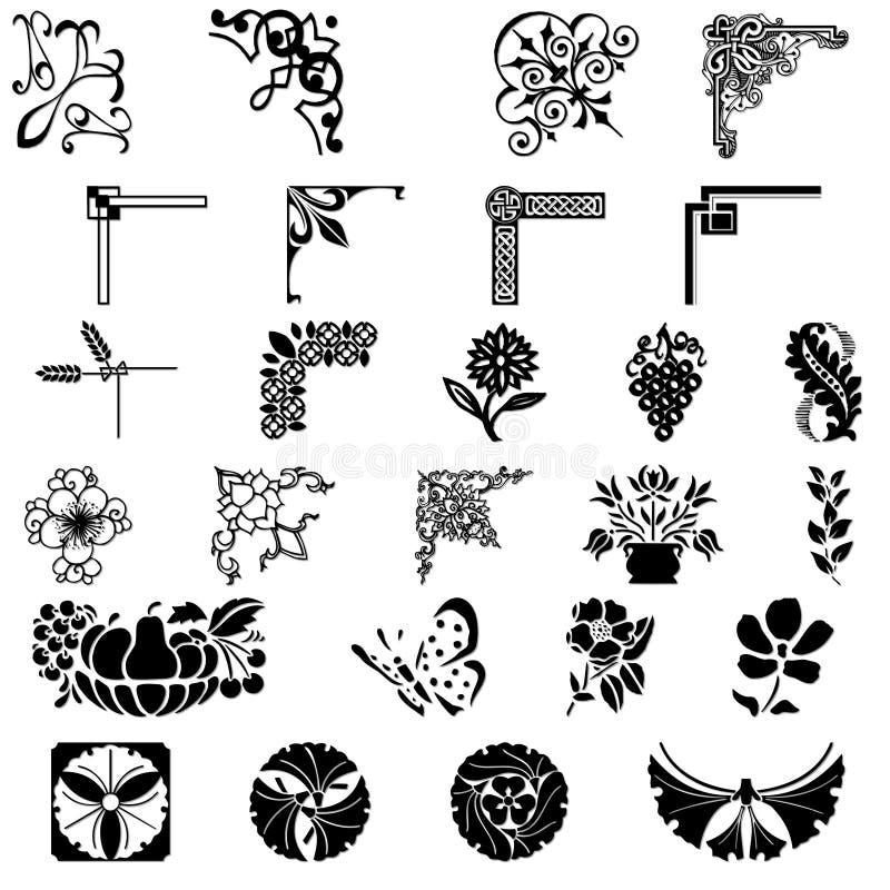 Ornamento do projeto ilustração stock