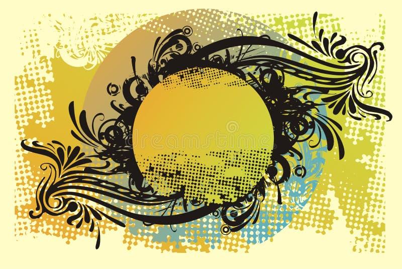 Ornamento do projeto de Grunge ilustração do vetor