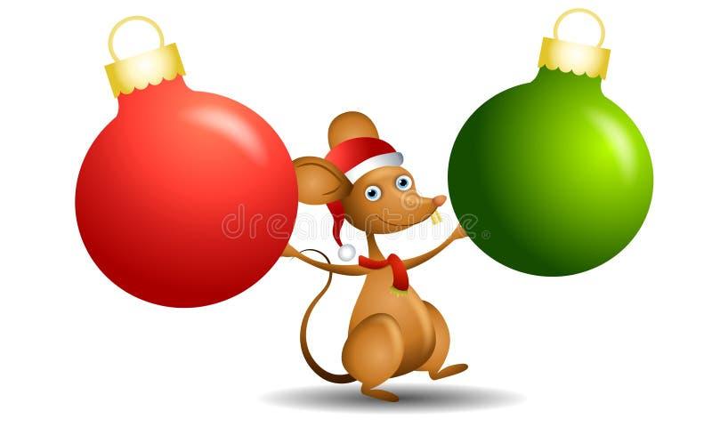 Ornamento do rato de Santa ilustração royalty free