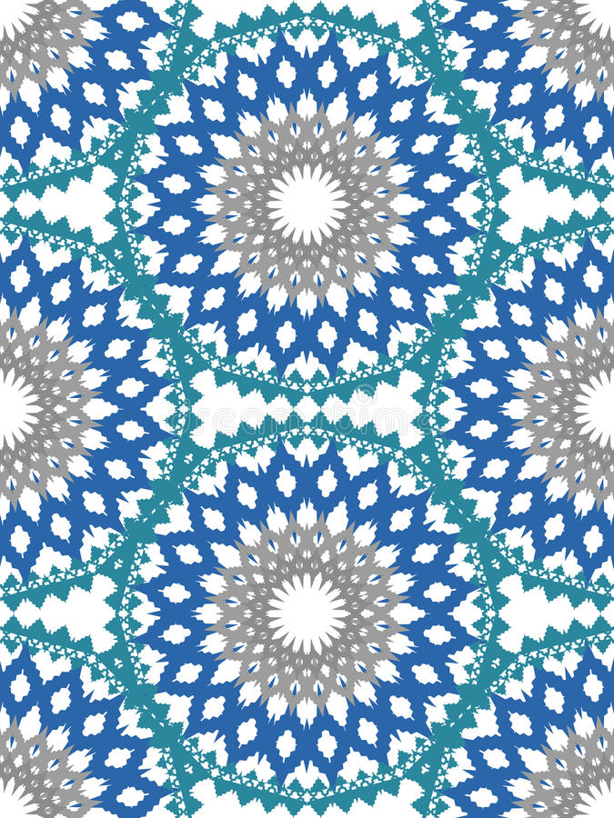 Ornamento do teste padrão de flor do vetor Textura luxuosa elegante para a matéria têxtil, as telas ou os fundos dos papéis de pa ilustração do vetor