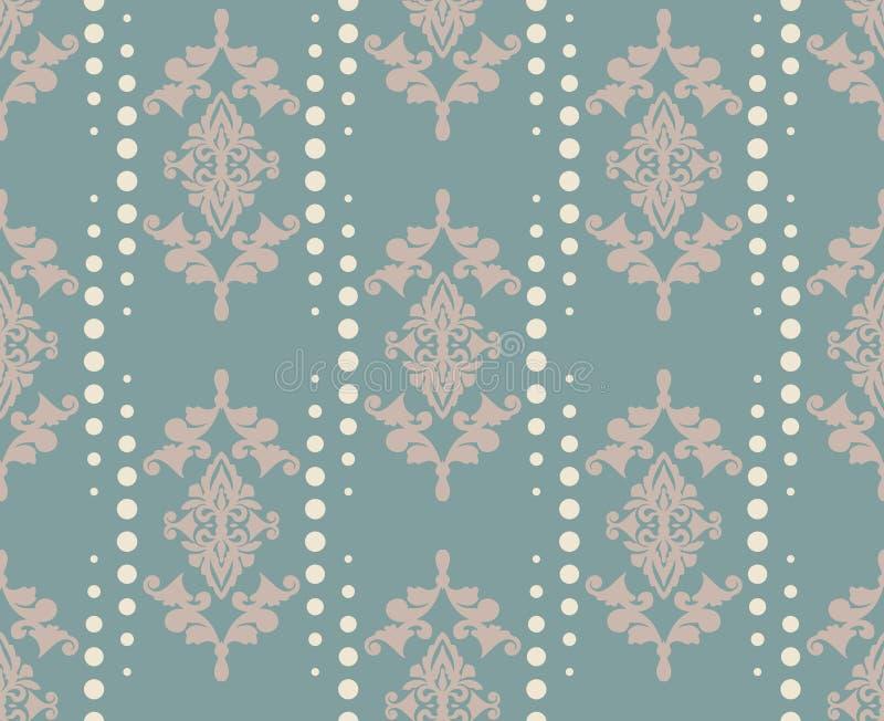 Ornamento do teste padrão do damasco do vetor Textura luxuosa elegante para a matéria têxtil, as telas ou os fundos dos papéis de ilustração royalty free