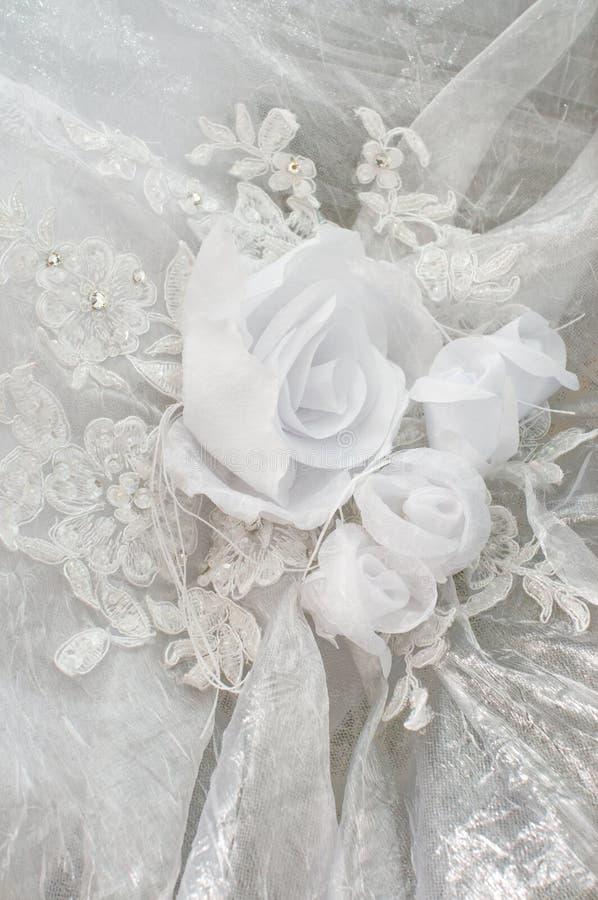Ornamento do vestido de casamento. imagem de stock