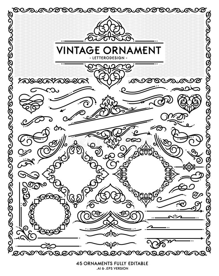 Ornamento do vintage imagens de stock