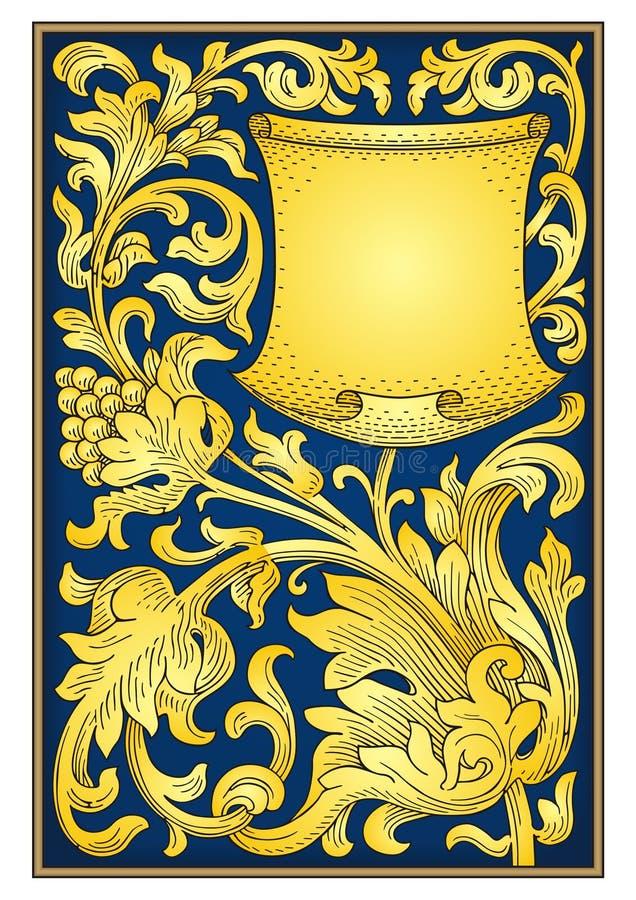 Ornamento do vintage com bagas ilustração royalty free