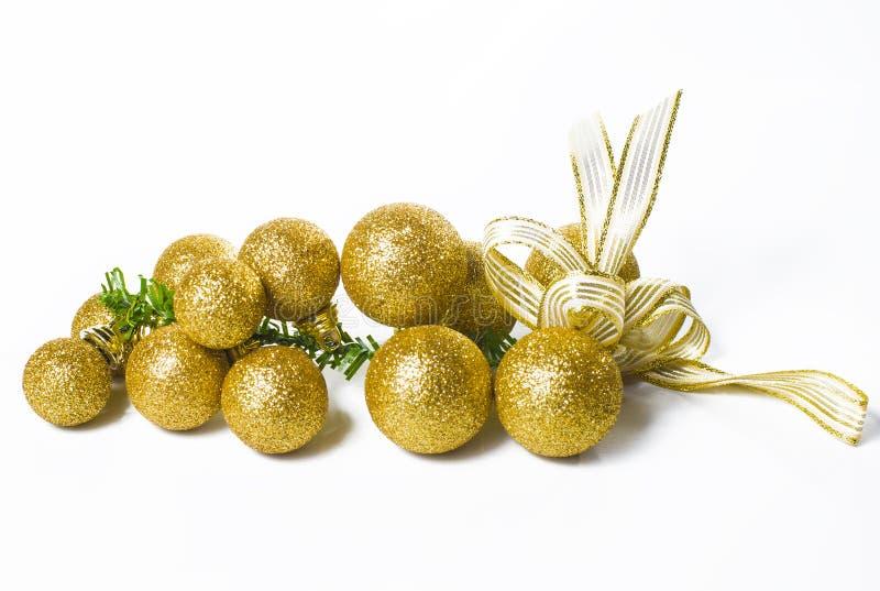 Ornamento dorato di natale fotografia stock libera da diritti