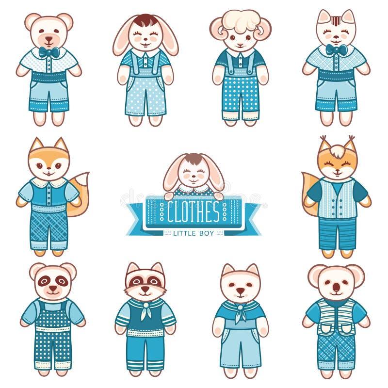Ornamento dos animais do ` s das crianças Animal de estimação bonito da criança ilustração do vetor