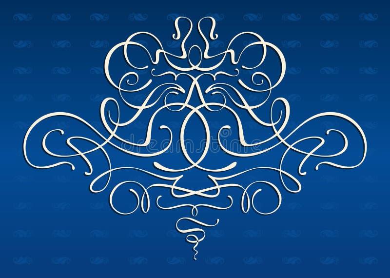 Ornamento dos motriz da Arte-nouveau ilustração royalty free