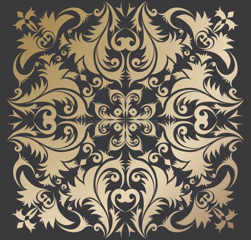 Ornamento dourado ilustração royalty free