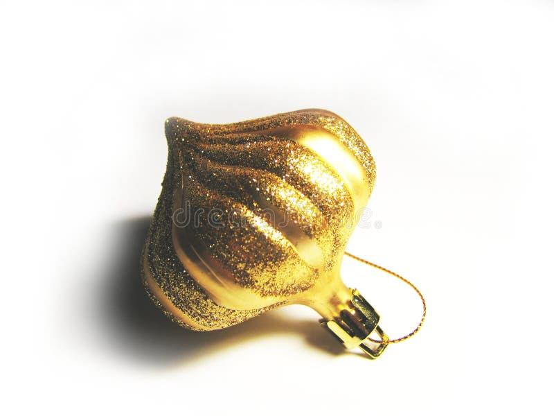Ornamento dourado do Natal fotos de stock