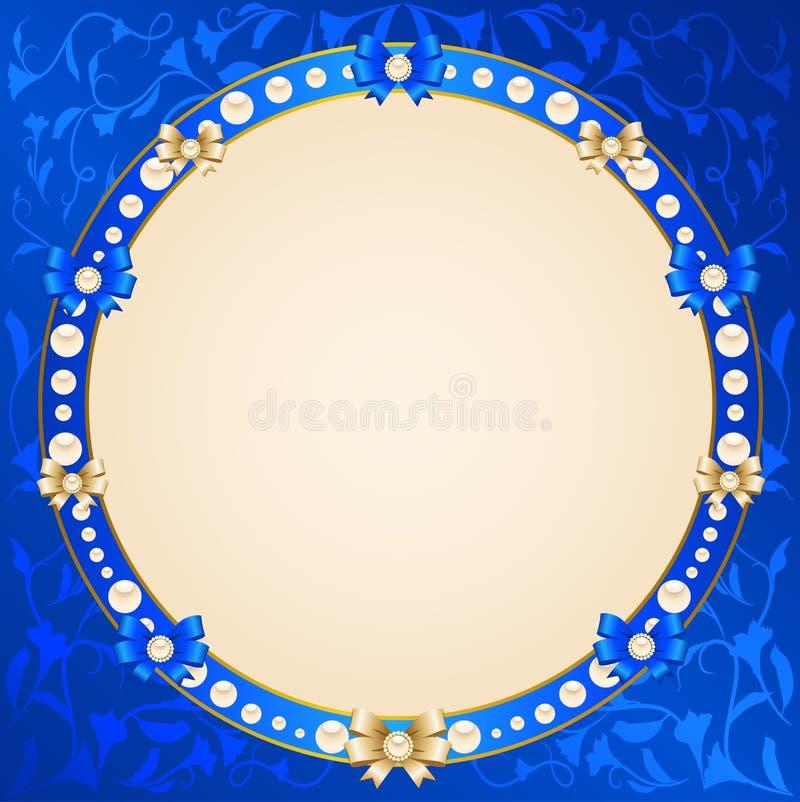 Ornamento e curva do laço ilustração royalty free