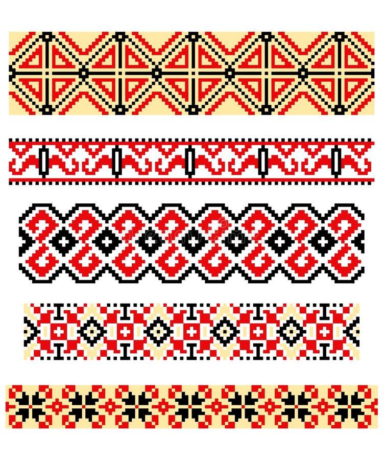 Ornamento e tracery nacionais ilustração stock