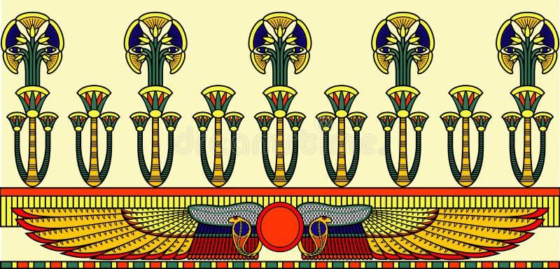Ornamento egiziano illustrazione vettoriale