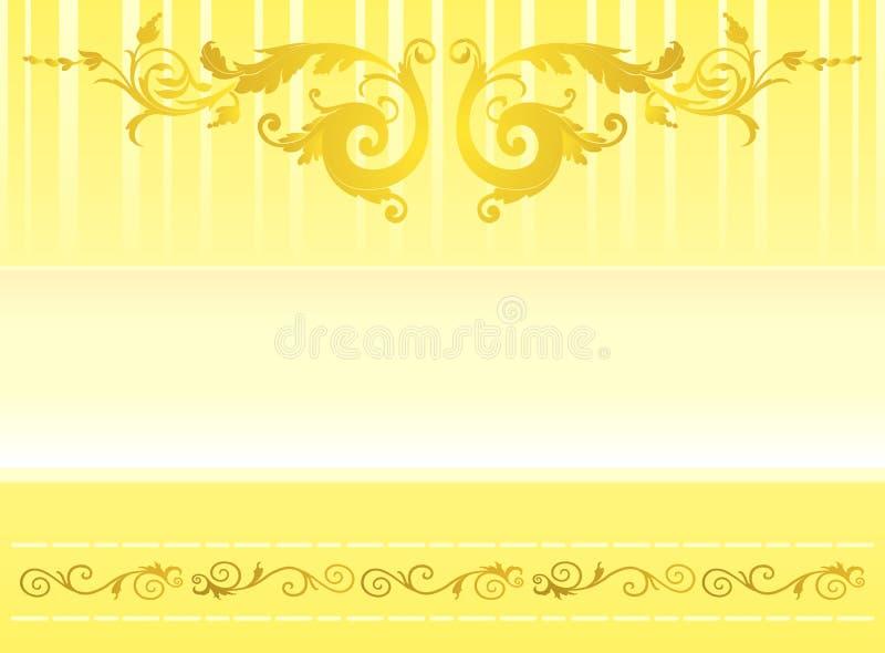Ornamento elegante do ouro ilustração do vetor