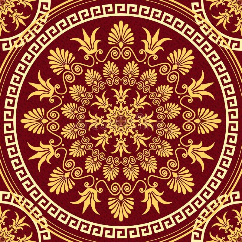 Ornamento elegante senza cuciture dell'oro del pizzo di vettore illustrazione vettoriale