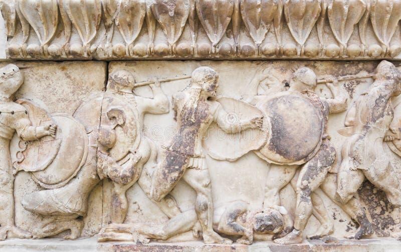 Ornamento en el museo de Delphi, Grecia fotografía de archivo
