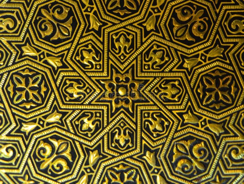 Ornamento en la placa de oro de Toledo fotografía de archivo