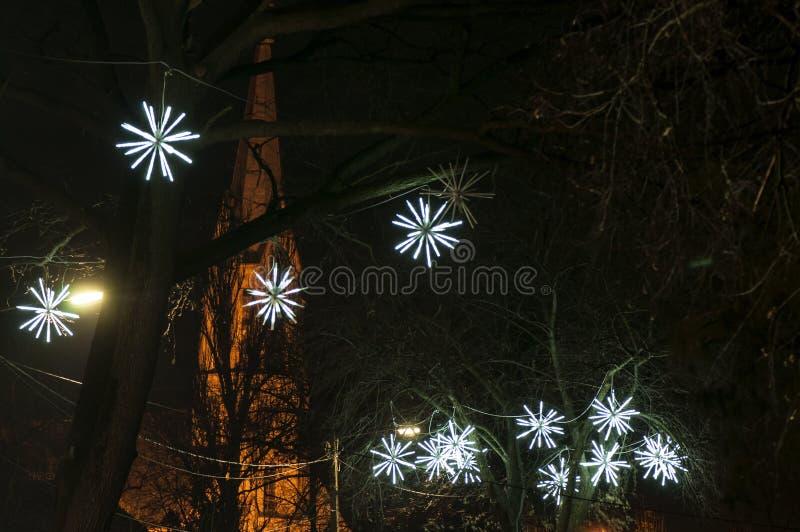 Ornamento encendido de la Navidad fotos de archivo