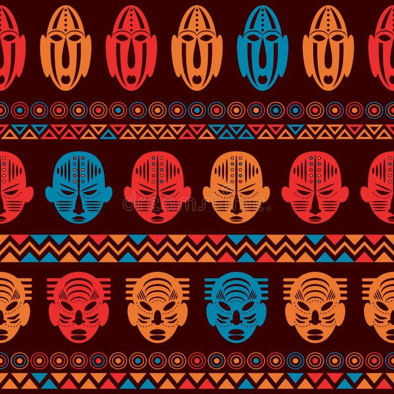 Ornamento etnico del modello tribale africano illustrazione vettoriale