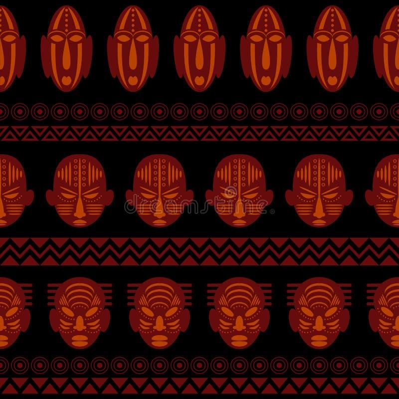 Ornamento etnico del modello tribale africano illustrazione di stock