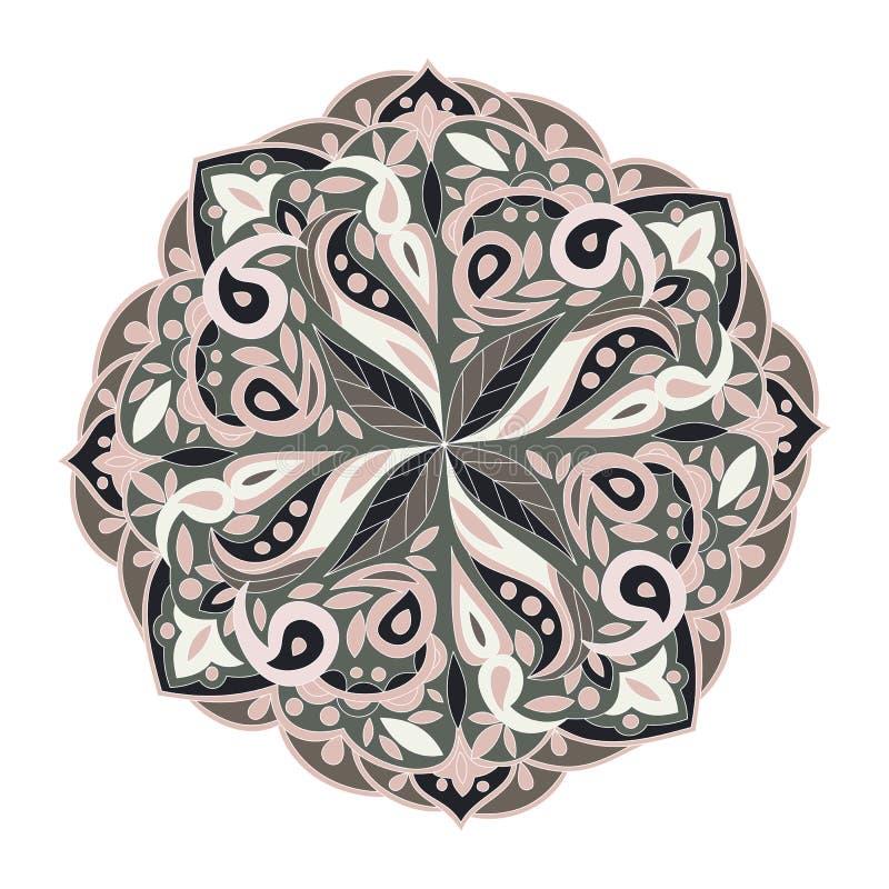 Ornamento etnico della mandala floreale per la decorazione Stile orientale royalty illustrazione gratis