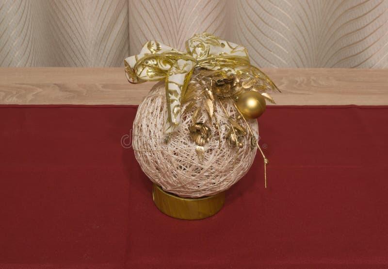 Ornamento fatto a mano dell'albero di Natale fotografia stock libera da diritti