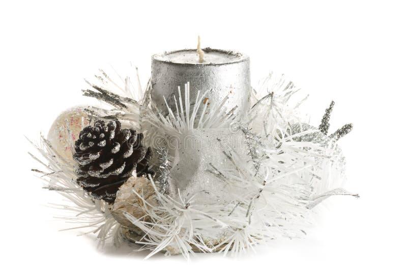 Ornamento festivo de la vela de la Navidad imágenes de archivo libres de regalías