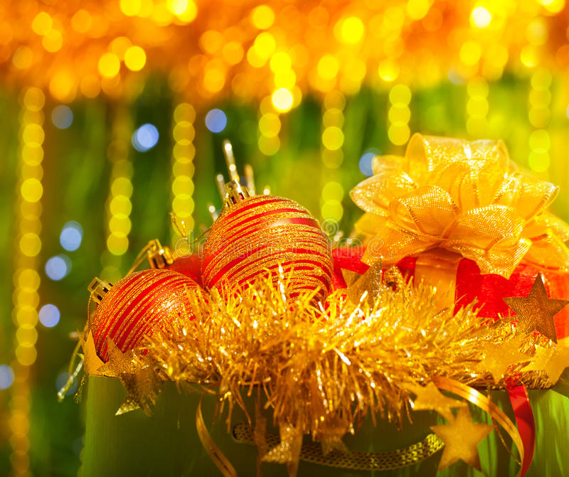 Ornamento festivo do Natal foto de stock royalty free