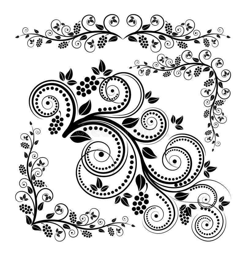 Ornamento florais ilustração stock