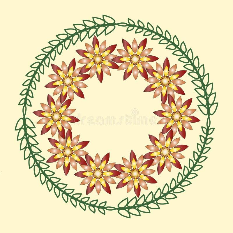 Ornamento florais geométricos simples, testes padrões redondos foto de stock royalty free