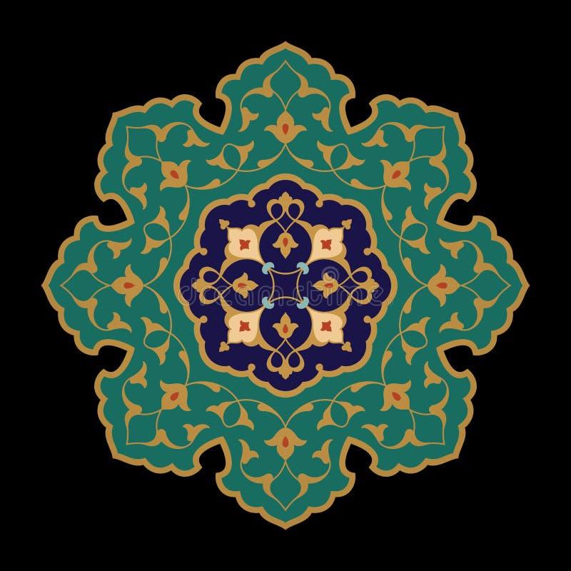 Ornamento floral árabe ilustración del vector