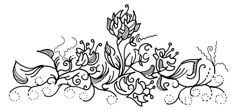 Ornamento floral foto de stock