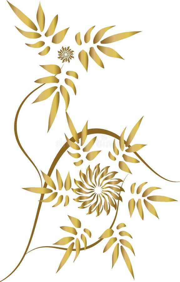 Ornamento floral ilustración del vector