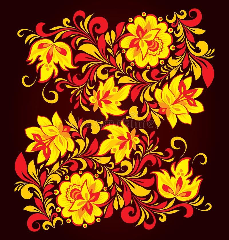 Ornamento floral ilustração do vetor