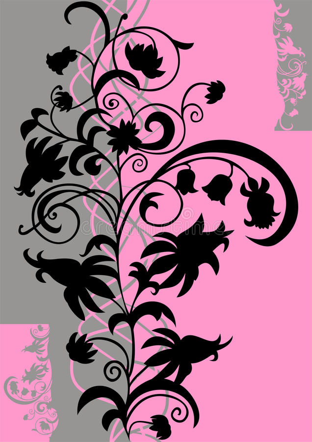 Ornamento floral abstracto libre illustration