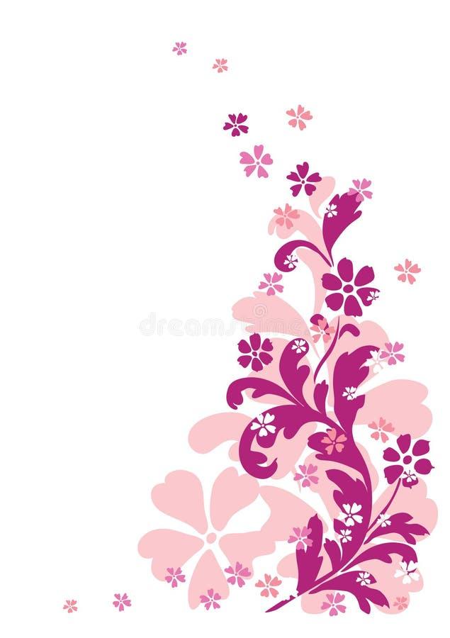 Ornamento floral abstrato ilustração stock