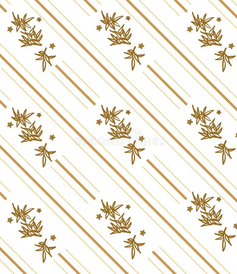 Ornamento floral abstrato ilustração royalty free