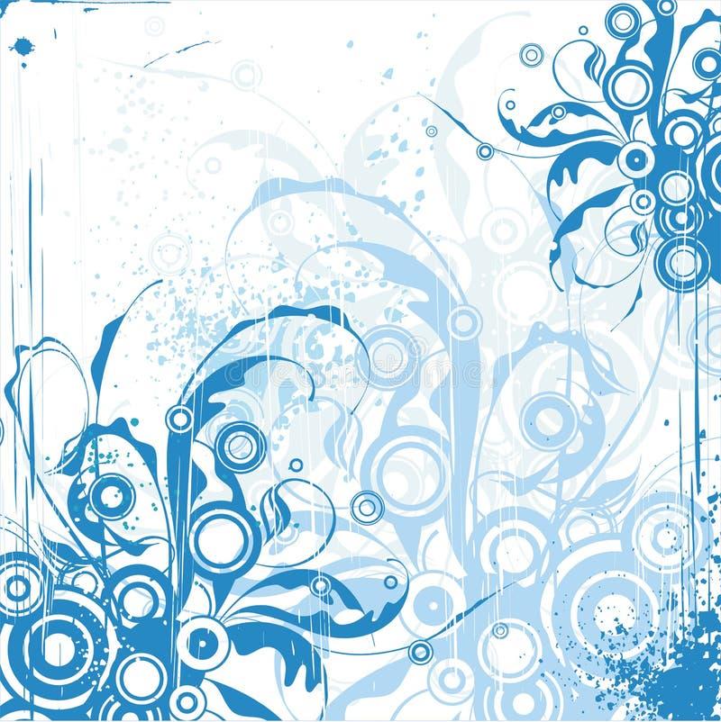 Ornamento floral azul ilustração do vetor