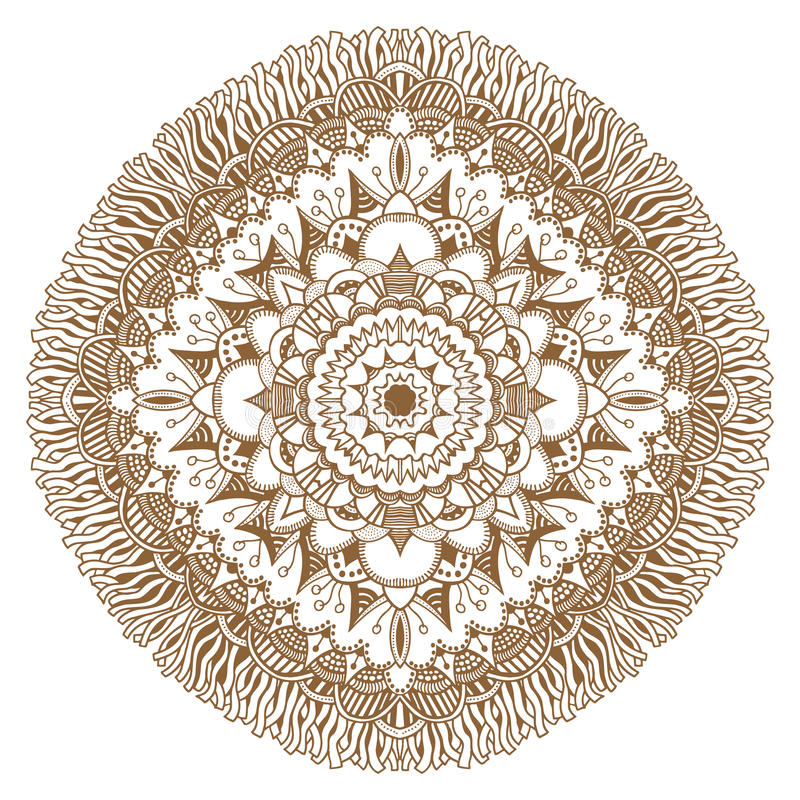 Ornamento floral circular stock de ilustración