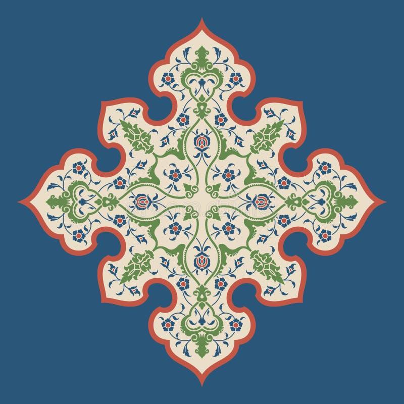 Download Ornamento floral cuatro ilustración del vector. Ilustración de pintura - 64207445