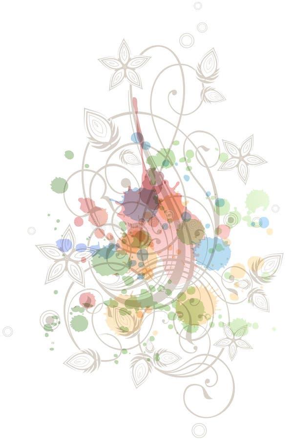 Ornamento floral da caligrafia ilustração stock