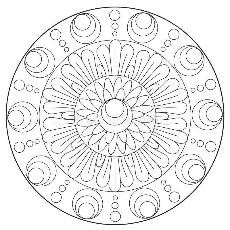 Ornamento floral de la abstracción que colorea libre illustration