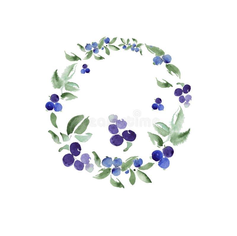 Ornamento floral de la acuarela en un círculo Vector libre illustration